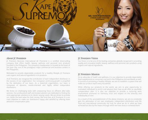 Web Design JC Premier Online Store