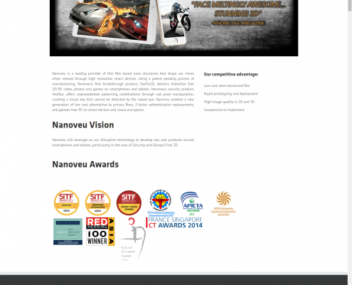 sample corporate website