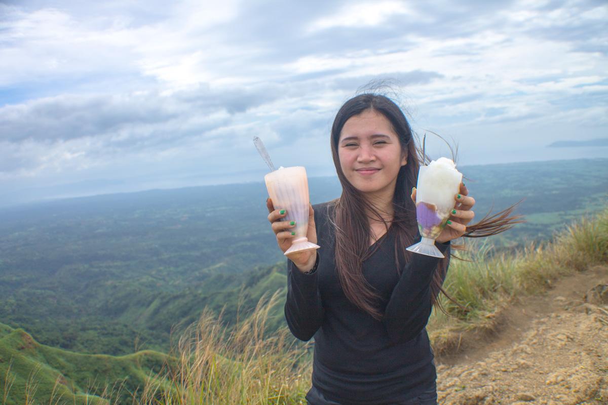 Grace Baque at Mt. Batulao