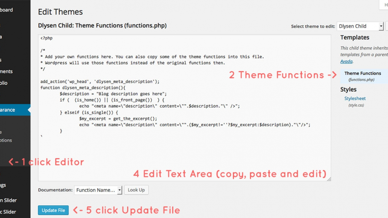 How To Add Meta Tag Description Of Your Wordpress Blog Make A Difference
