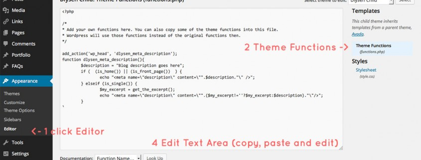 How to edit wordpress theme functions.php