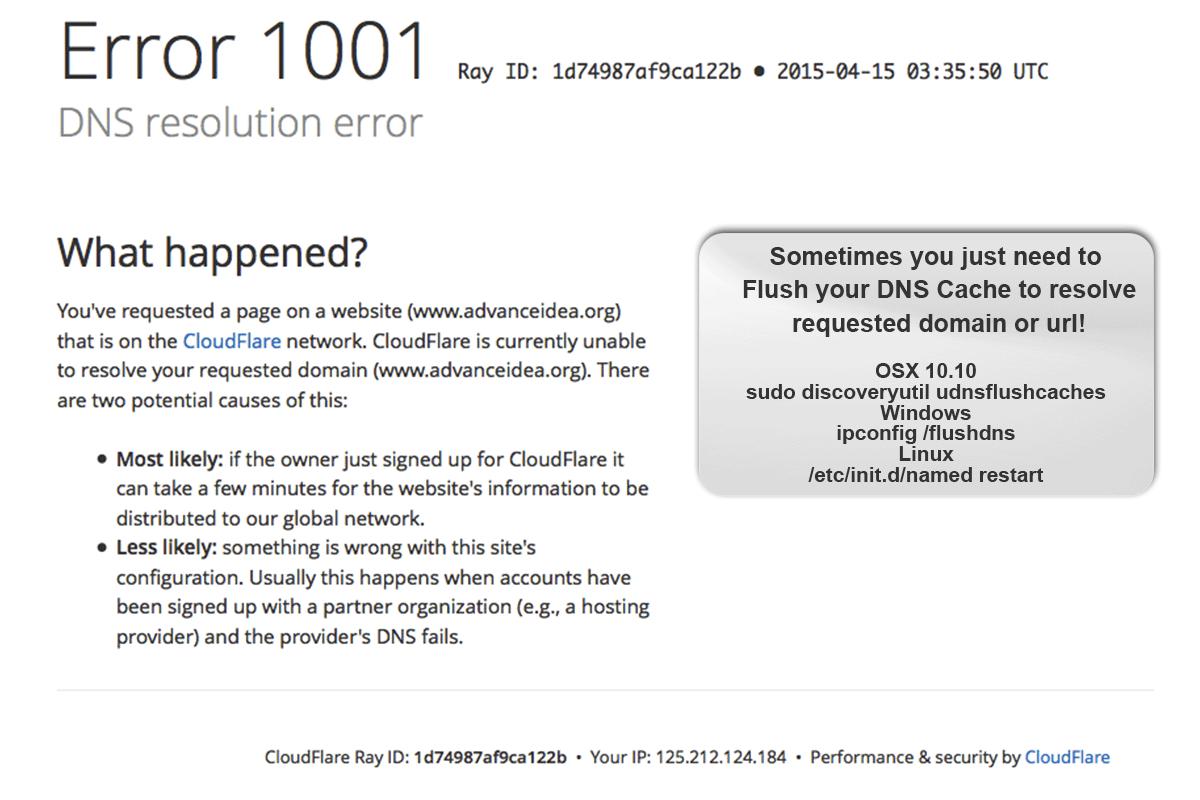 DNS Error Resolution
