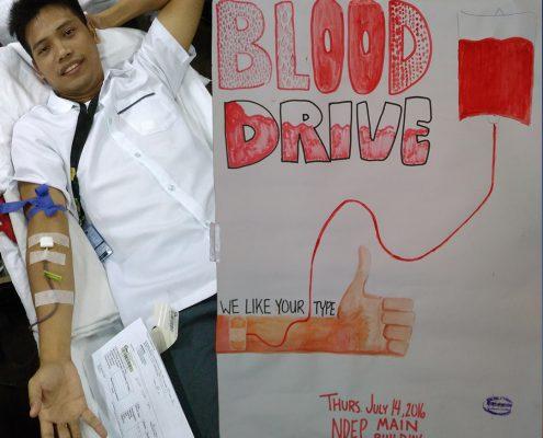 blood drive New Era University 2016 07 14